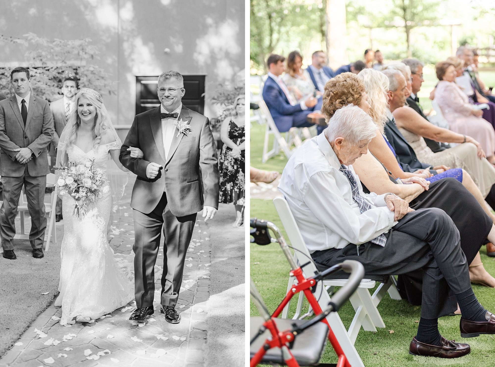 father walks bride down the aisle at Brookshire