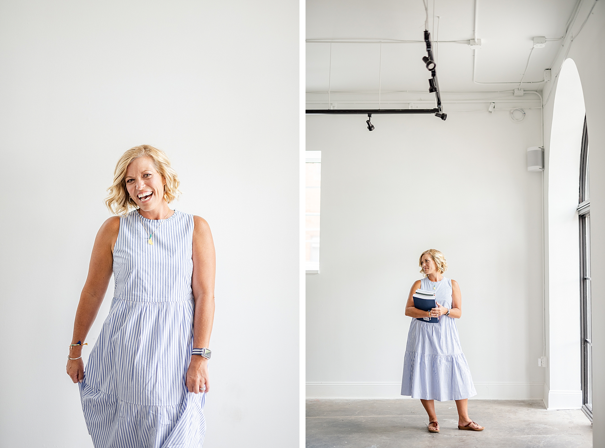 joyful branding portraits in the Fig Room with Stephanie Kase Photography